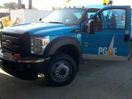 Pacific Gas and Electric is sending a small army of trucks and electricians to New York to aid Con Edison in emergency repairs following the damage from superstorm Sandy.
