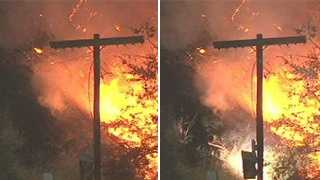 Fire crews in Sacramento fought a possible electrical fire Wednesday near railroad track along Folsom Boulevard.