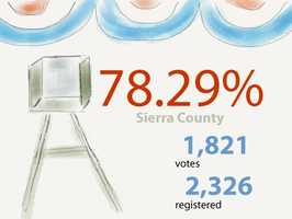 In Sierra County: 1,821 ballots cast out of 2,326 voters