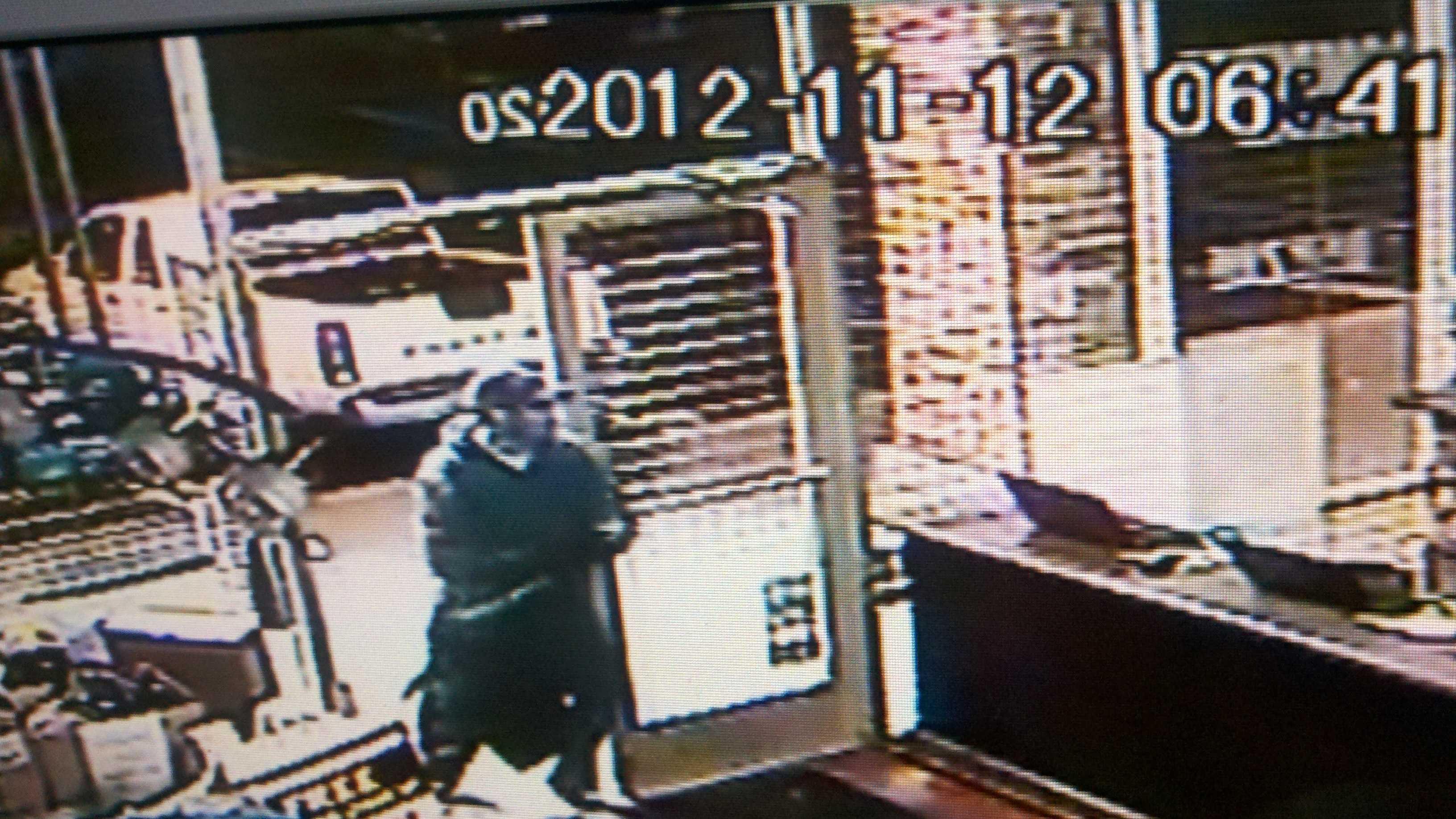 Laptop thief caught on camera