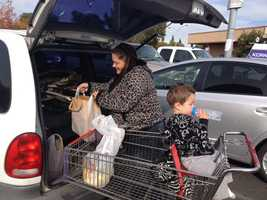 April Thornbrough of West Sacramento was happy to shop Tuesday at Raley's, a store she had avoided for 10 days during the workers' strike. She said her father had stopped buying his medications at the store, instead turning to another pharmacy. She said he will now bring his business back to Raley's.