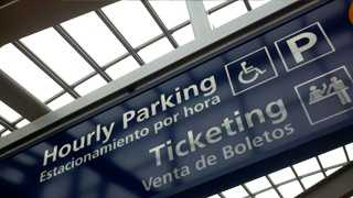 The airport has reduced the number of parking spaces in the economy lot by 2,000