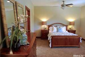 Here's a look inside one of the bedrooms.