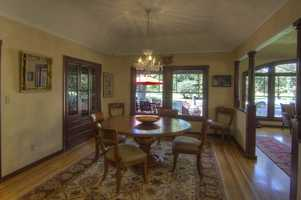 This home overlooks McKinley Park's famous rose garden in East Sacramento.
