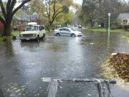 SundayFlooding in East Sacramento during Sunday's storm. (Dec. 2, 2012)