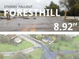 In all, Foresthill saw 8.92 inches of rain.