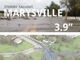 In all, Marysville saw 3.9 inches of rain.