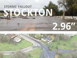 In all, Stockton saw 2.96 inches of rain.
