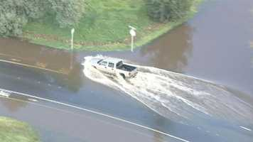 LiveCopter 3 flies over the Sacramento area to survey some of the mess left behind by the series of powerful storms that struck this week.