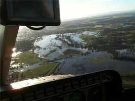 LiveCopter 3 flies over the Sacramento area to survey some of the mess and flooding left behind by the series of powerful storms that struck this week.