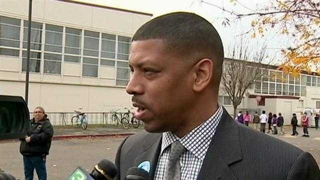 Mayor Kevin Johnson reacts to $37,500 fine