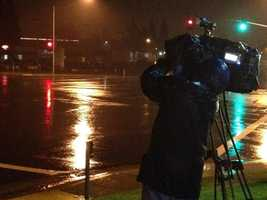 KCRA 3 photographer Jorge Velasquez got a little wet gathering rain footage this morning (Dec. 5, 2012).