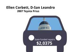 Ellen Corbett, D-San Leandro2007 Toyota PriusState's purchase price: $28,954State's sale price: $7,000$2,0375 for a 5-point inspection, and to update vehicle's GPS system