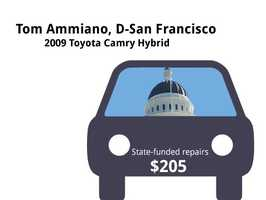Tom Ammiano, D-San Francisco2009 Toyota Camry HybridState's purchase price: $32,978State's sale price: $11,425$205 for oil and filter changes