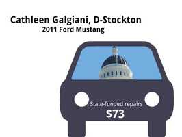Cathleen Galgiani, D-Stockton2011 Ford MustangState's purchase price: $24,657State's sale price: $14,700$73 for an oil change, flat repair