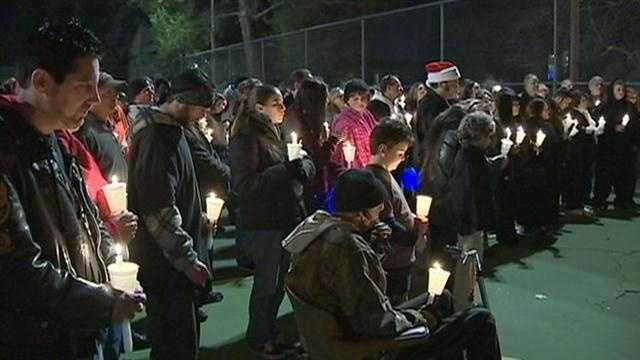 More than 100 people gathered for a candlelight vigil to remember Roderick Clifton, who died in the Sierra while stranded in bad weather.