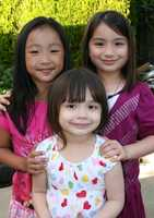 I have three adorable nieces! (Left to right: Kayla, Valerie and Trinity).