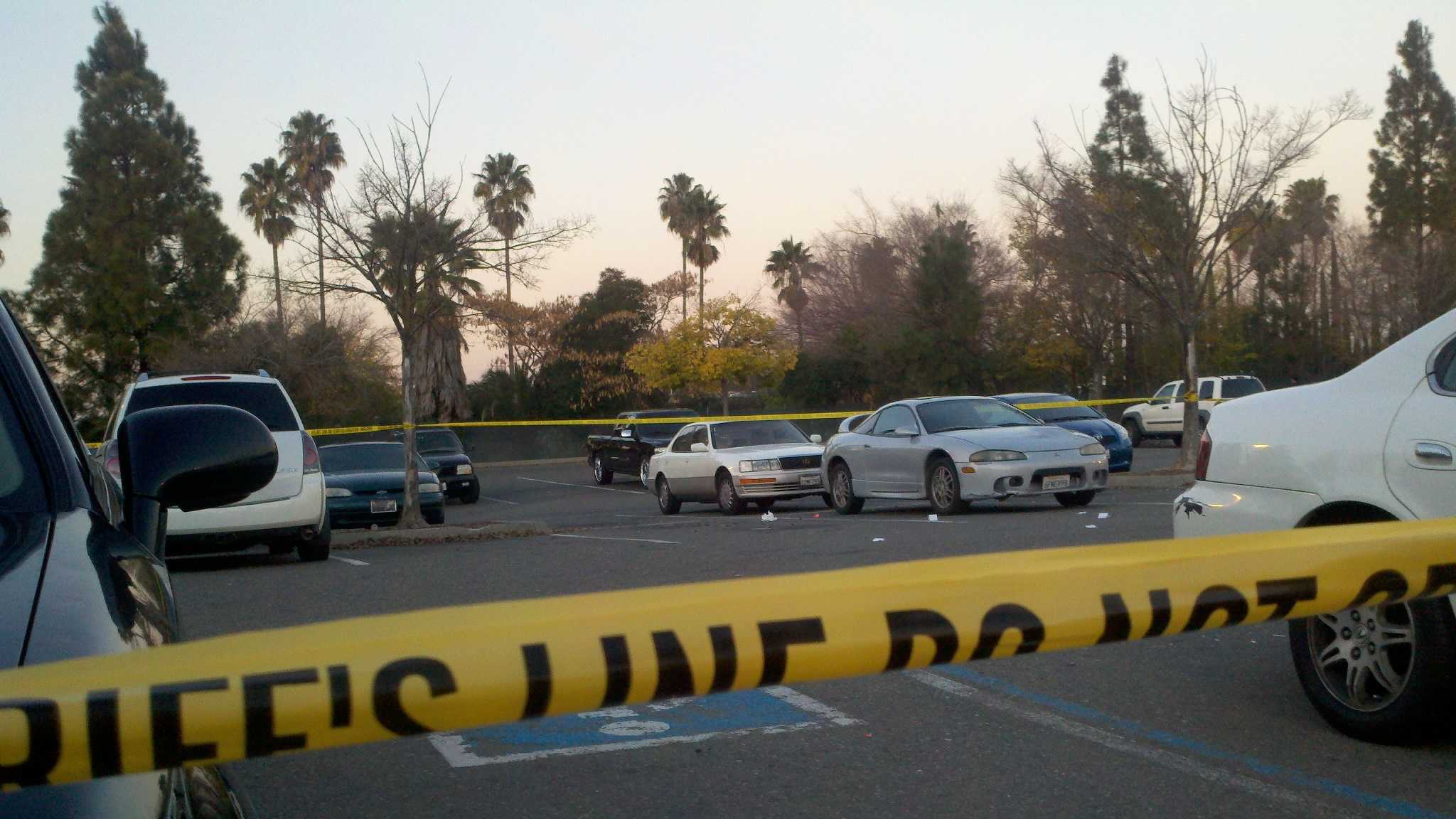 An 11-month-old was inside a vehicle struck by gunfire during a shooting in a Sacramento store parking lot on Monday.