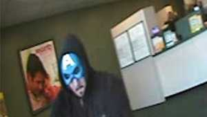 The first robbery happened around 2 p.m. at a Check 'N' Go Cashing location.