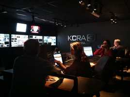 Newsroom assistant news director, producers and directors discuss coverage inside the KCRA 3 control room.