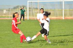 Dixon High School girls soccer players