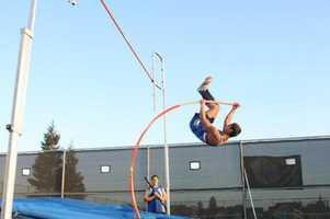 Sierra High School pole vaulter