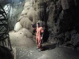 "KCRA 3 photographer Mike Rhinehart takes video of the ""chocolate waterfall."""