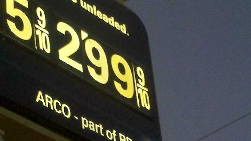 The Arco station on Kettleman Lane in Lodi was selling regular unleaded gasoline for $2.99 per gallon Monday evening.