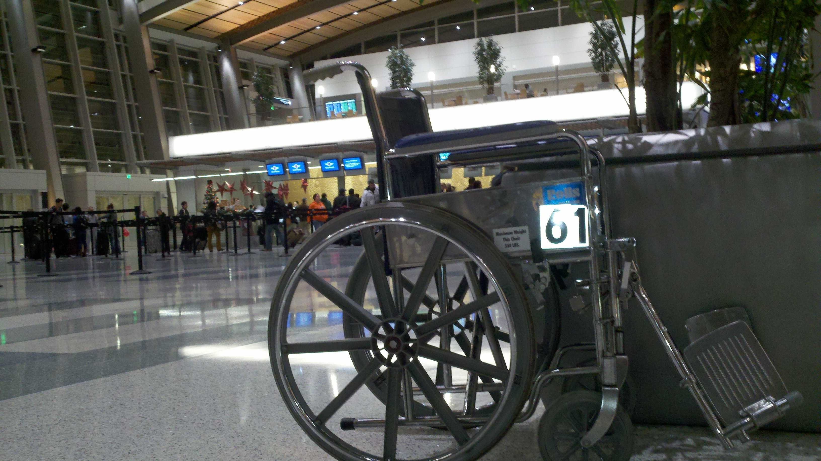 A woman who uses a wheelchair is suing Sacramento County over accessibility issues at the airport's Terminal B.
