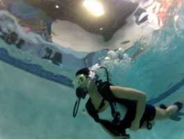 The Introduction to SCUBA class costs $40. Divers learn basic skills, and get to experience weightless swimming around the pool.