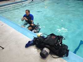 For $10, beginners can experience breathing underwater.