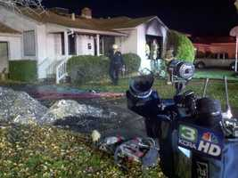 A Christmas tree decorated with lights sparked a house fire Friday in Sacramento.