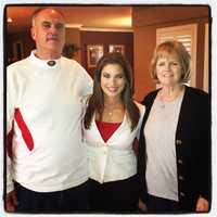 KCRA 3's Lisa Gonzales and Colin's parents, Rick and Teresa Kaepernick, at their Modesto home.