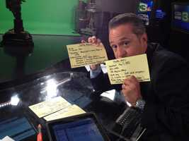 Teo Torres reveals his notes for KCRA 3's extended coverage on Space Shuttle Endeavor's goodbye tour.
