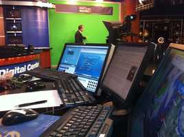 KCRA 3 meteorologist Dirk Verdoorn explains the day's forecast on set.