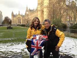 """Photographer Michael """"Domi"""" Domalaog andDeirdre Fitzpatrick were in London in February to preview the Summer Games."""