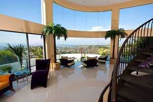 Average nightly rate for this home in the Bel Air Hills is $3,500.