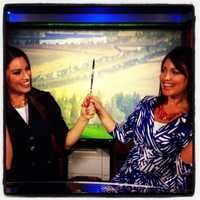 Like looking in a mirror? KCRA's Lisa Gonzales and Jaclyn Dunn have some fun on set.