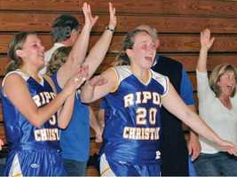 With 11 championships, the Ripon Christian girls take the No. 2 spot in our list of top girls basketball program. All 11 of their titles have come in Division V.