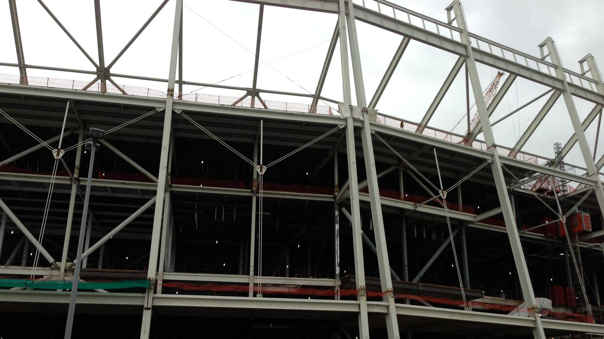 Work is under way in Santa Clara for the new home of the San Francisco 49ers.