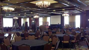 The Double Tree Hotel in Sacramento was preparing for New Year's Eve celebrations on Monday.