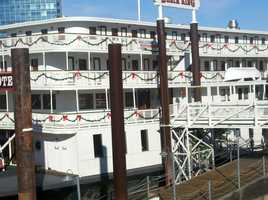 Old Sacramento was also getting ready for tonight's New Year's festivities.