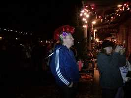 Crowds begin to gather in Old Sacramento for New Year's Eve celebrations.