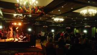 Hundreds of people celebrated New Year's Eve at the DoubleTree Hotel in Sacramento.