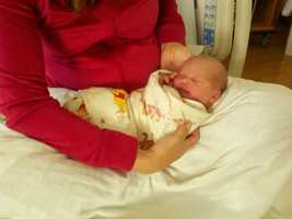 Allison and her husband, Brian Donecker, already have one son, Jackson Brian Donecker (Jan. 1, 2013).