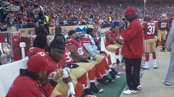 49ers sideline during a game against the Arizona Cardinals.