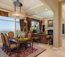 The dining and living area windows offer these views of Folsom Lake.