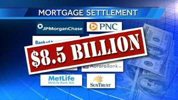 The mortgage-lenders have agreed to pay $8.5 billion, with about $3.3 billion going to wronged homeowners and $5.2 billion to reduce principal amounts.