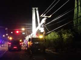 An early-morning commuter dozes off and crashes into a power pole Wednesday, forcing the closure of Hazel Avenue, California Highway Patrol said.