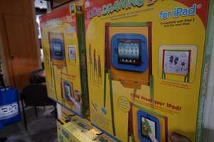 An iPad easel for kids.